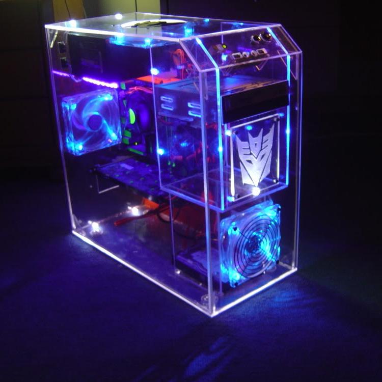Custom New Design Clear Acrylic Pc Case Buy Clear