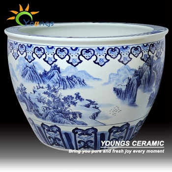 Blue White Ceramic Planters