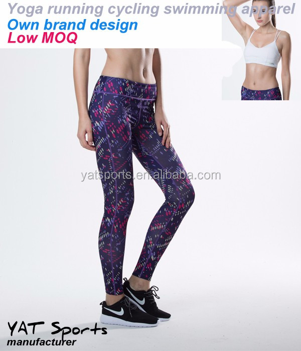 8ac487a8b4f6c5 Low MOQ Private label wholesale fitness activewear leggings women printed  workout yoga pants