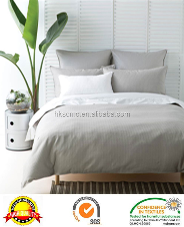 Professional luxury light grey queen 100% cotton quilt cover set size