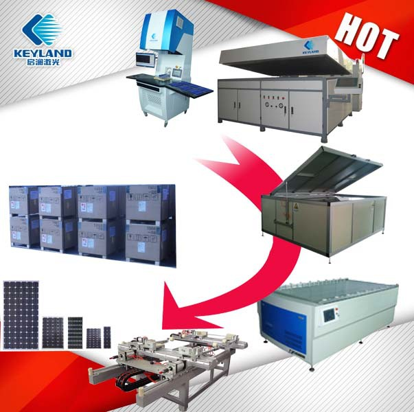 Keyland semi automatic solar module production line Equipment For PV solar system