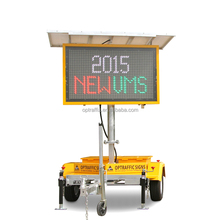 Optraffic 5 Colour Portable Road Variable Message Boards Speed Limit Sign Trailer Mounted VMS