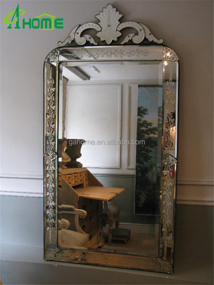 18 세기 유럽 유형 홈 장식 대형 침실 베네치아 거울 바닥 거울 ...