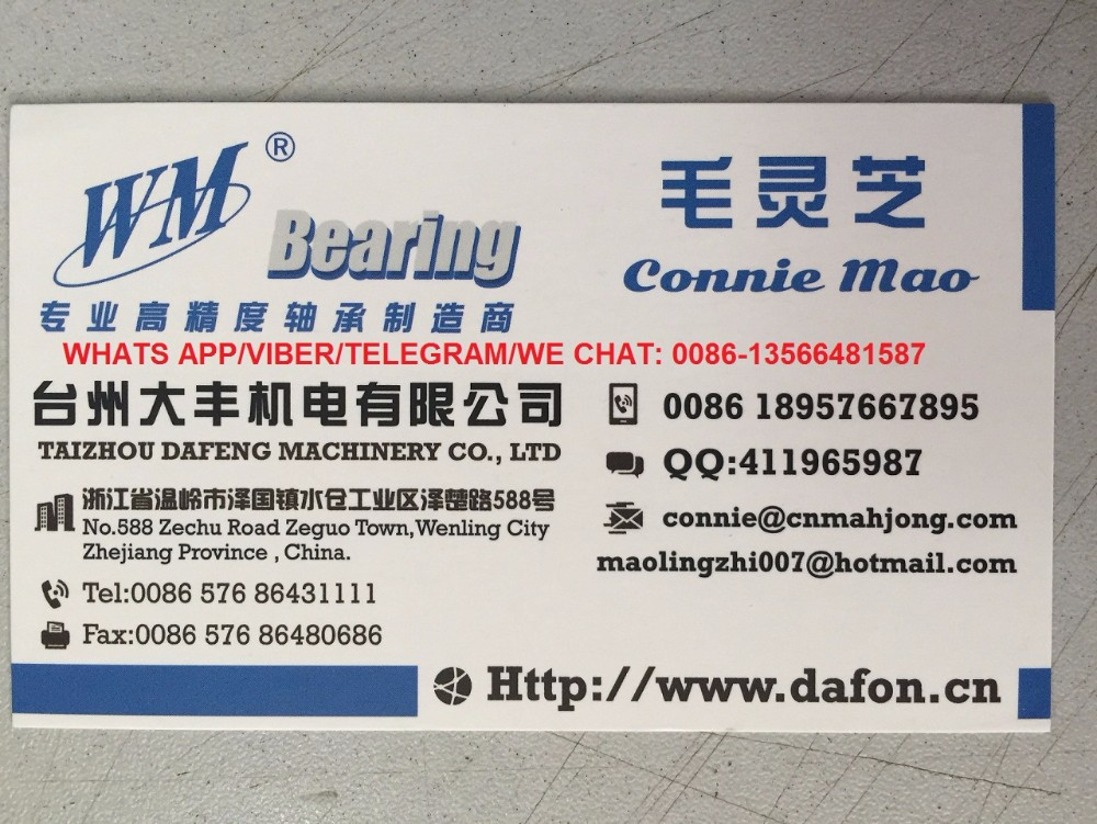 MLZ WM BRAND Factory Free sample TS16949 certified China high speed Deep Groove Ball Bearings
