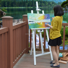 White Color Children Wooden Painting Easel