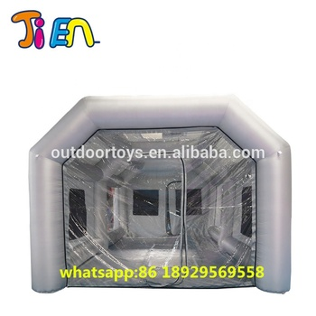 free air ship to door,8x4x3m giant portable commercial inflatable tent paint booth spray booth,large inflatable car wash tent