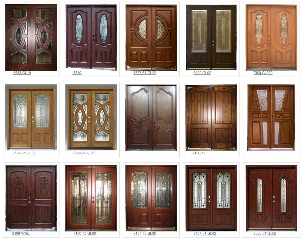 2017 factory price wooden double door designs main door for Door n window designs