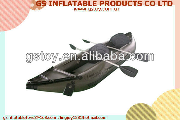 PVC inflatable 2 person inflatable canoe EN71 approved