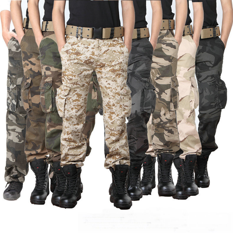 heren militaire camouflage cargo broek totale mens leger outdoor broek