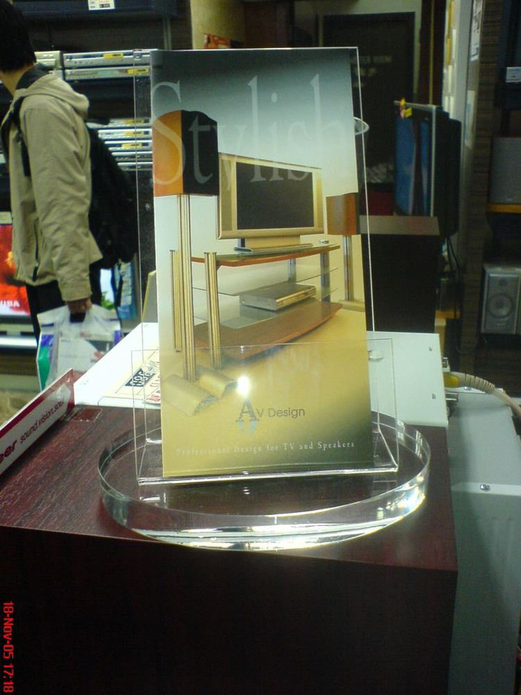 Acrylic Material Leaflet Holder Literature Display Stands Folding Jewelry Acrylic Display Stand