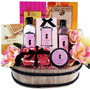 Art of Appreciation Gift Baskets Sweet and Stylish Peony Floral Spa and Treats Bath and Body Gift Set by Art of Appreciation Gift Baskets