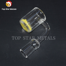 25mm XL Quartz Opaque Banger Gavel Nail 4mm Thick yellow Bottom Flat Top Colored UFO Bubble Carb Cap Domeless For Glass