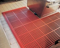 Water Proof Anti Non Slip Skid Resistant Drainage Rubber Chef Kitchen Floor Mats