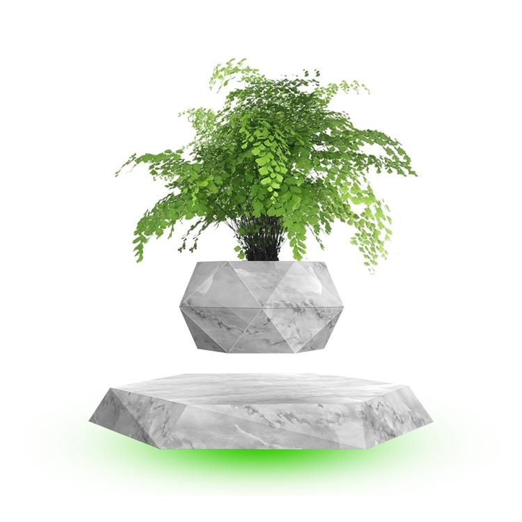 Set your plants free HCNT magnetic levitation bonsai hexagon houseplant pot