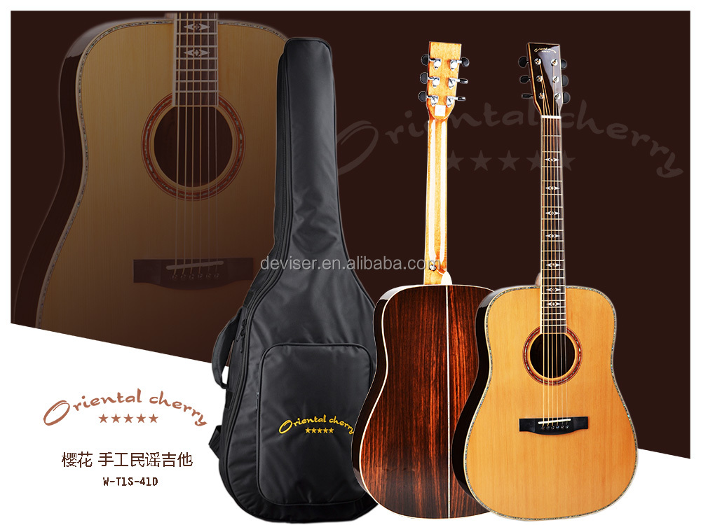41 inch Cutway Acoustic Guitar handsel bag as gift,,we make all kinds of Guitars,Ukulele,Violin,Guitar Accessorie