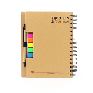 Hot style Spiral Notepad Sticky Notepad Notebook With Pen gift set