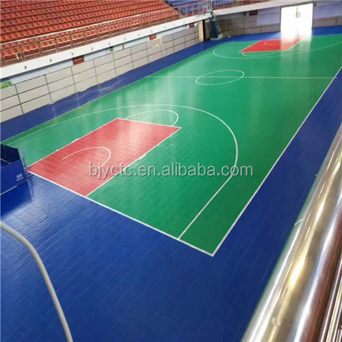 High quality good costs interlocking outdoor sport court for Cost of sport court