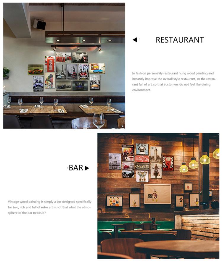 Personalizado decoração bar de parede Artesanato de impressão antiga retro sinais de lata de metal Do Vintage