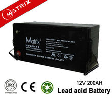 Deep cycle/high performance 3 year warranty 200ah industrial battery