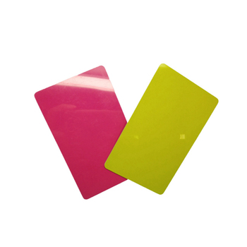 Blank american express card rainbow blank pvc ID card for thermal and UV printer