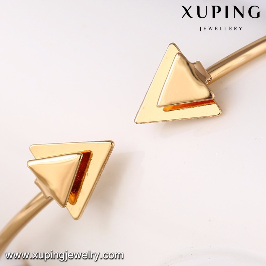 51643- Xuping arrow design cuff bangle copper alloy jewelry
