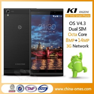MOQ 1 PC OK K1 Turbo 5.5 inch FHD OGS IPS Screen MTK6592 1.7GHz Octa Core 14MP Camera Android 4.3 3G 2GB Ram Mobile Phone
