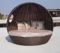 Outdoor rattan big swimming day bed wicker lounger