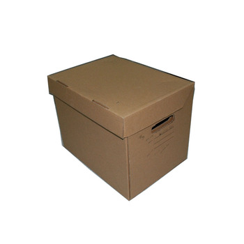 Recycled brown kraft paper box corrugated carton packaging box french fries aluminium foil carton box