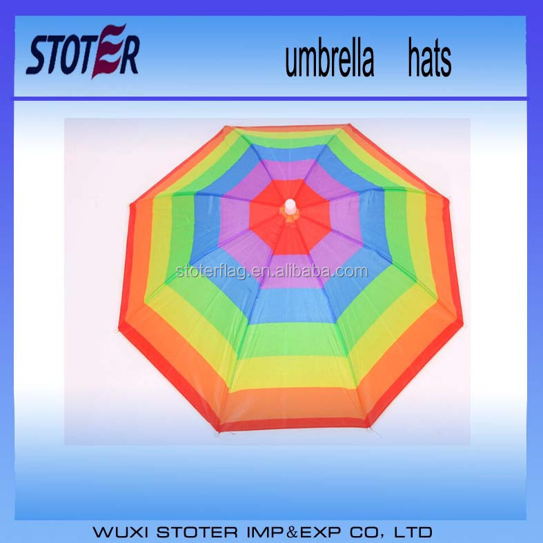 Portable cheap promotional umbrella hat for sale