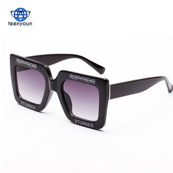 big square sunglasses women black casual purple white oversized sun glasses woman fashion summer 2018 uv400