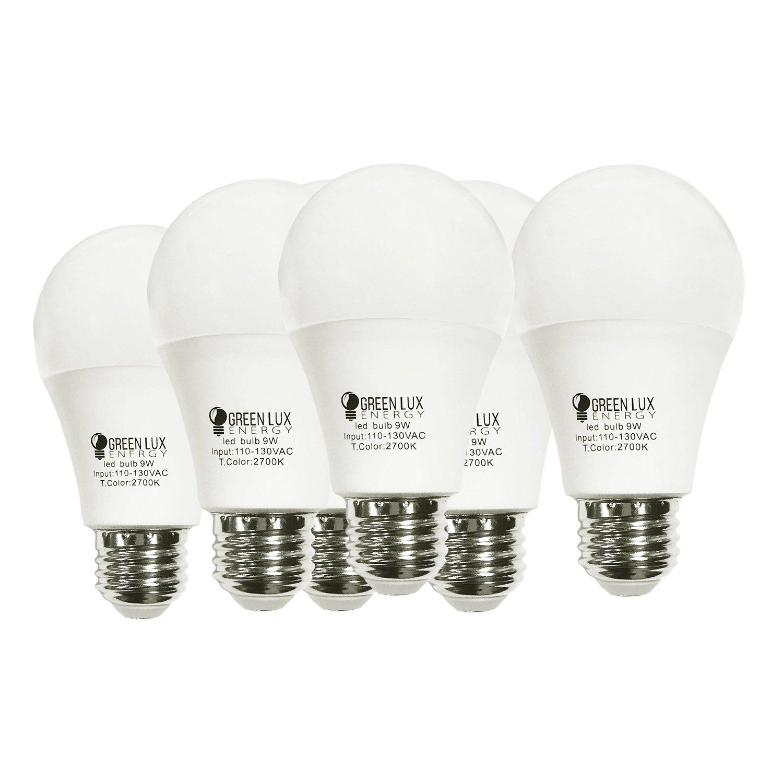 GLE LED A19 - 60- Watt Equivalent (9W) Soft White (2700K) General Purpose Light Bulb - 6 Pack