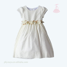 best party dress party wear dress patterns baby girl dress in white color
