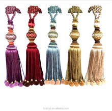 Factory Wholesale New Designs Long Decorative Curtain Tassel