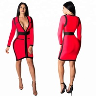 2019 Wholesale Women Ladies Elegant Office Dress Clothes Knee-length Bodycon Slim Pencil Party Dress
