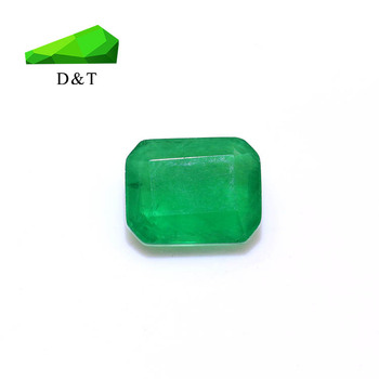 wholesale factory machine cut green agate color glass gems