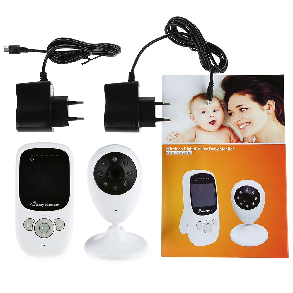 Baby Monitor video camera SP880 2.4G Video Wireless Baby Monitor con Visione Notturna A due vie Parlare da 2.4 pollici display LCD