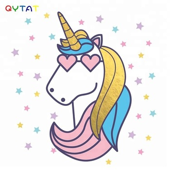 Cosmetic Cool Design Unicorns Temporary Tattoo Stickers For Kids