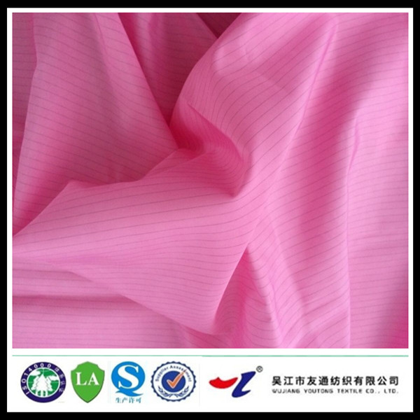 100% polyester striped antistatic fabric for sterile disposable surgical gown