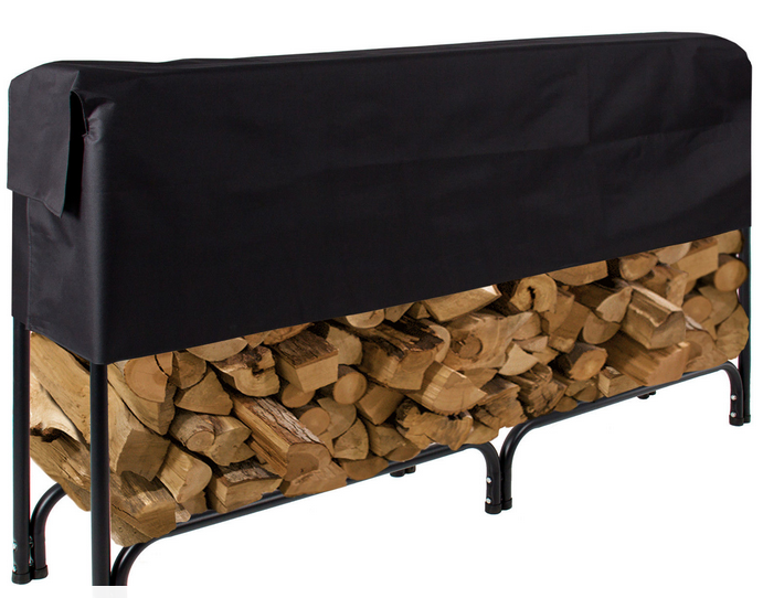 8 foot steel pipe firwood log rack for outerdoor use