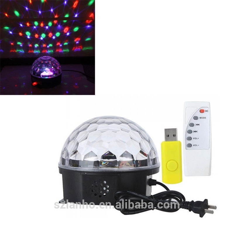 2016 new wholesale RGB LED Magic Crystal Ball Stage Laser Light Party Light