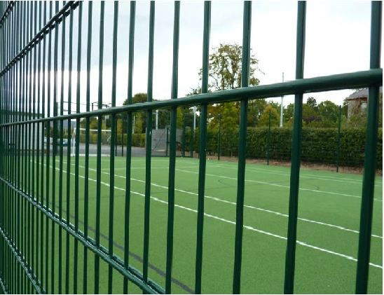 Double wire mesh fence pvc coated twin