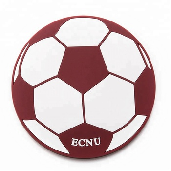 Hot selling round shape basketball football pattern pvc coaster