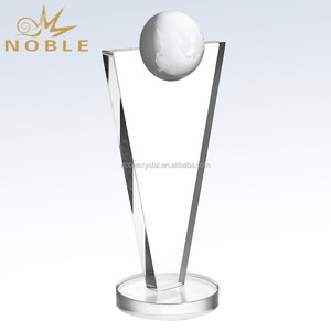 Customized Crystal Awards and Trophies With a Mirror Globe
