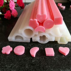 Heart Flower Square Round Moon Tube Column Talk and Skinny Silicone Soap Mold Embed Soap Making Silicone Tube Mold Soap