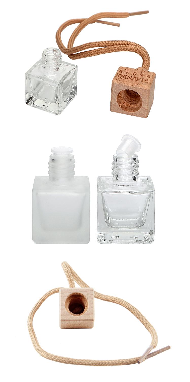 Portable Mini glass perfume bottle Aromatherapy car hanging ceramic perfume bottles 8ml