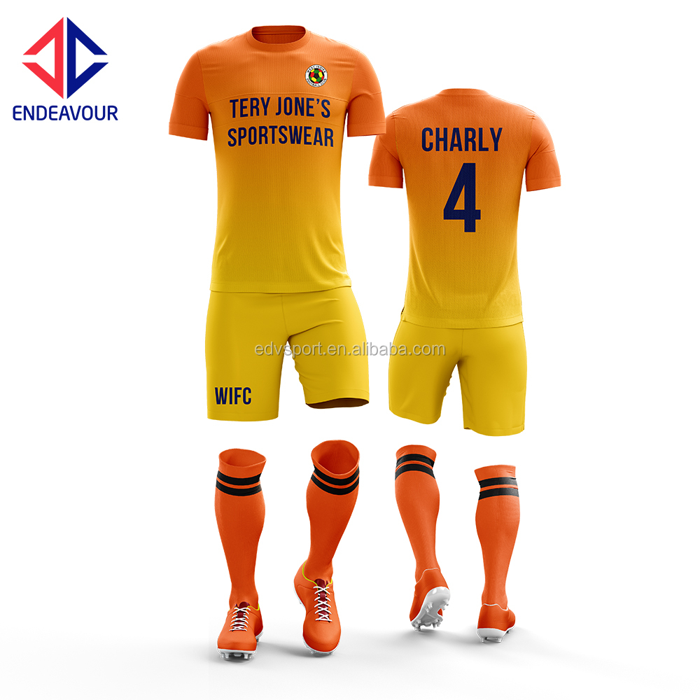 Custom made home soccer uniform
