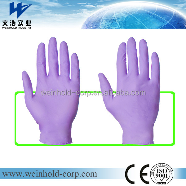 Disposable vinyl gloves ISO 9000 Certificated disposable PVC gloves vinyl gloves