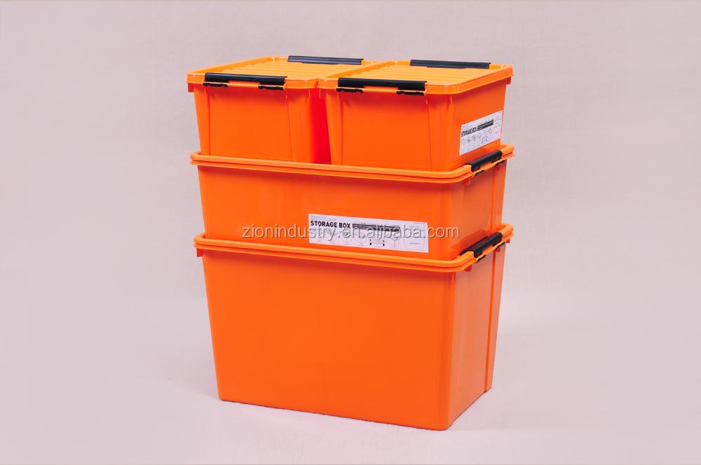 8 5l Orange Plastic Storage Box