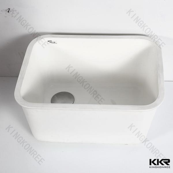 acrlico modificado de porcelana undermount fregadero de la cocina escurridor fregadero de la cocina