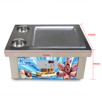 Free shipping Desktop tabletop countertop mini square pan thai instant stir fry rolling rolled fried ice cream roll machine